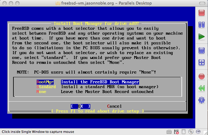 Jason Noble's Technical Adventures: Setting up a FreeBSD VM with
